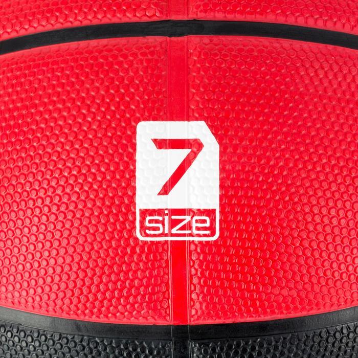Basketball R300 Größe7 Herren schwarz/rot robust ab 14 Jahren