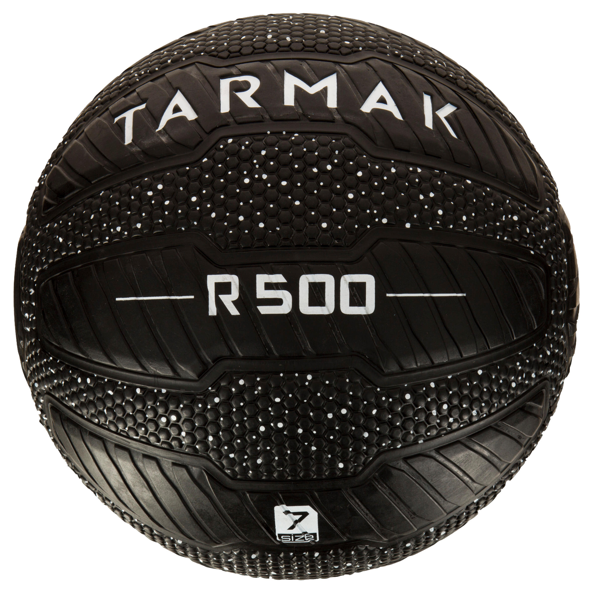 R500 Adult Size 7 Puncture-Proof and Grippy Basketball - White/Black.