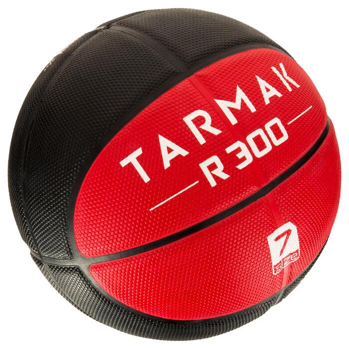 Ballon de basket homme R300 taille 7 noir. Résistant. A partir de 14 ans. - 1284473