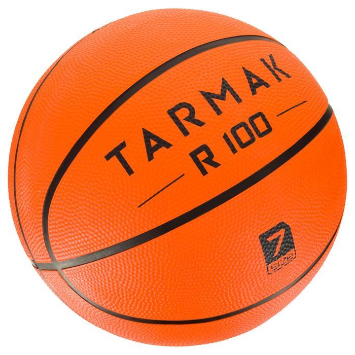 Basketball R100 Erwachsene Größe 7 orange robust für Einsteiger