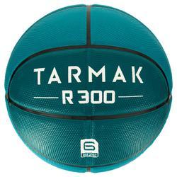 Basketbal R300 maat 6 groen Stevig.