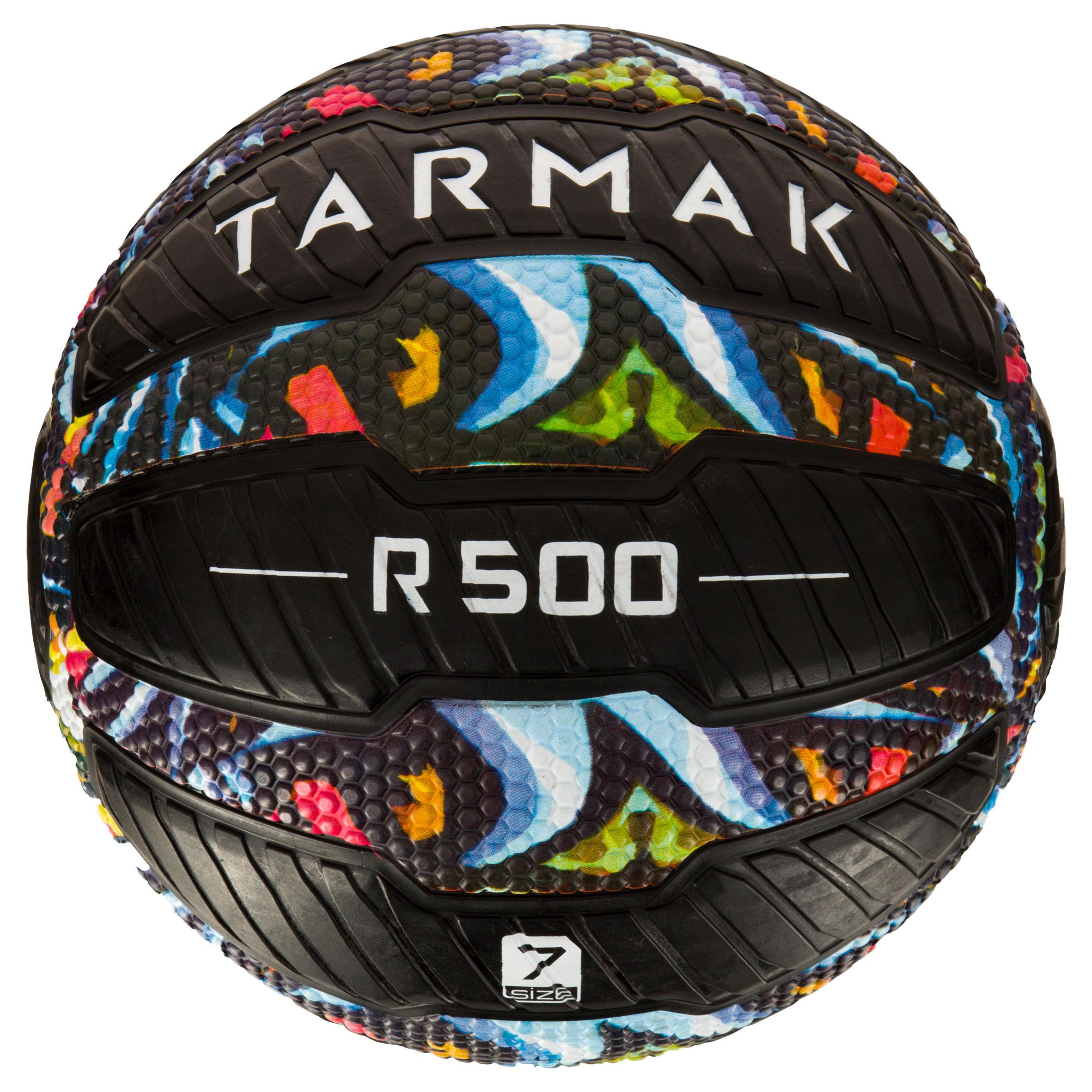 Tarmak Basketbal R500 maat 7 volwassenen zwart. Kan niet lek, biedt een perfecte grip.