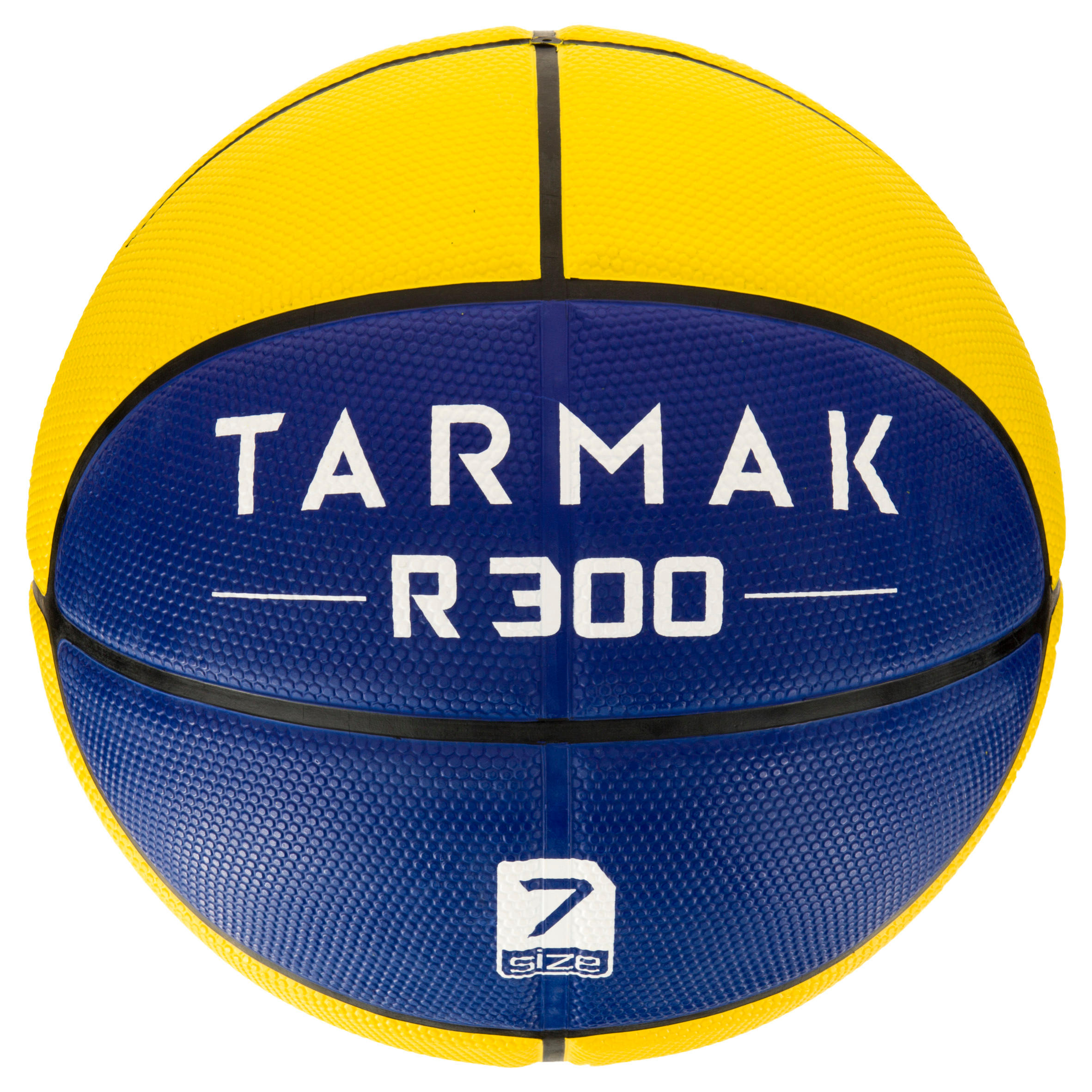 R300 Size 7 Basketball - Yellow/Blue. Durable. Ages 14 and up.