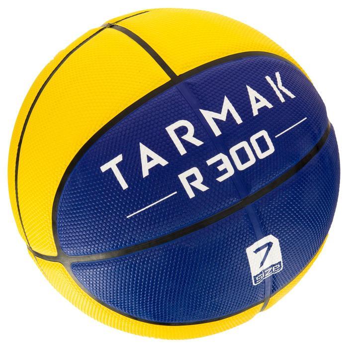 Balón baloncesto HBR R300 talla 7 amarillo azul.Resistente. A partir de 12 años.