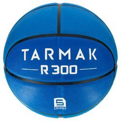 Basketball R300 Größe5 Kinder blau robust