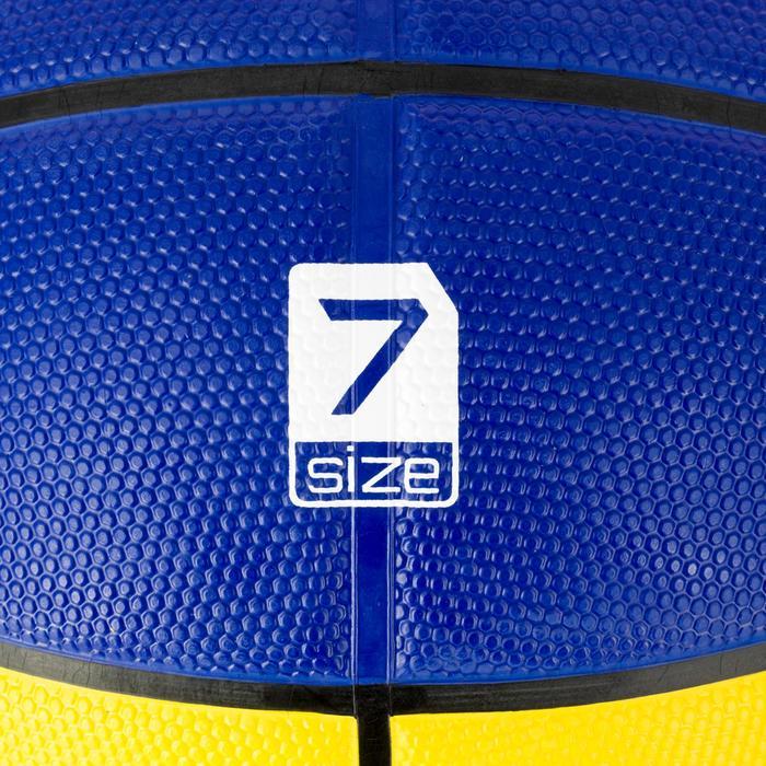Basketball R300 Herren Größe 7 gelb/blau robust ab 14 Jahren