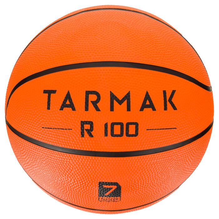 Basketbal VW R100 maat 7 oranje Slijtvast. Voor beginners.