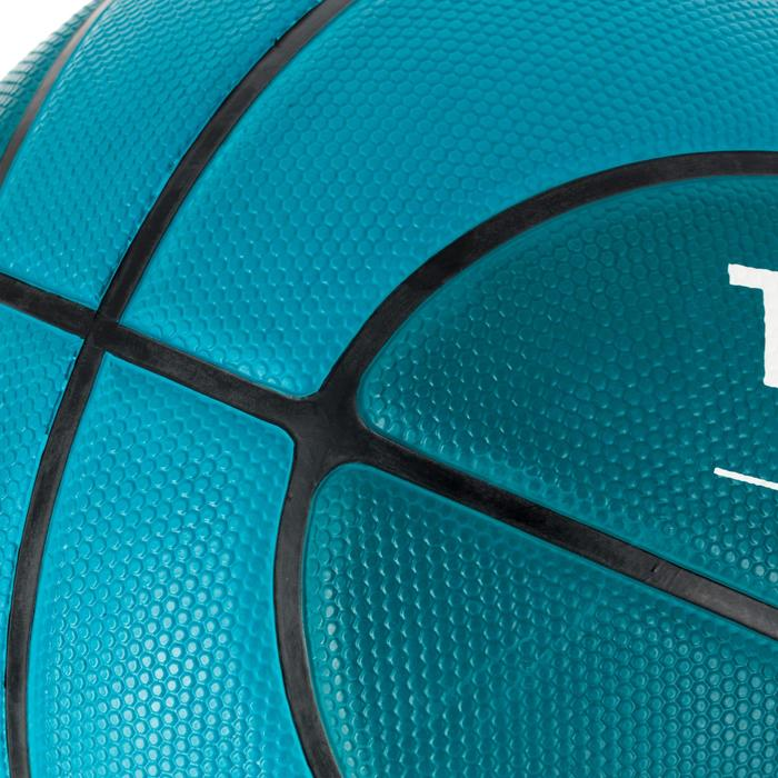 Ballon de basket R300 taille 6 vert. Résistant.