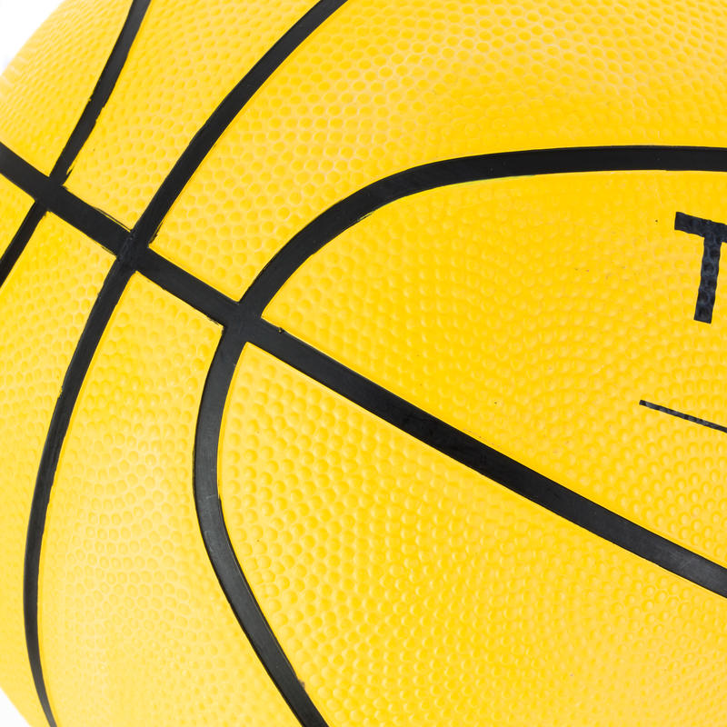 R100 Kids'/Adult Size 5/7 Beginner Basketball - Yellow