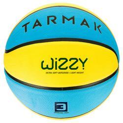 3號籃球(4到6歲專用)Wizzy-藍色/黃色