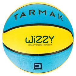 Wizzy Kids' Size 3 Basketball - Blue/Yellow(Children ages 4 to 6 years)