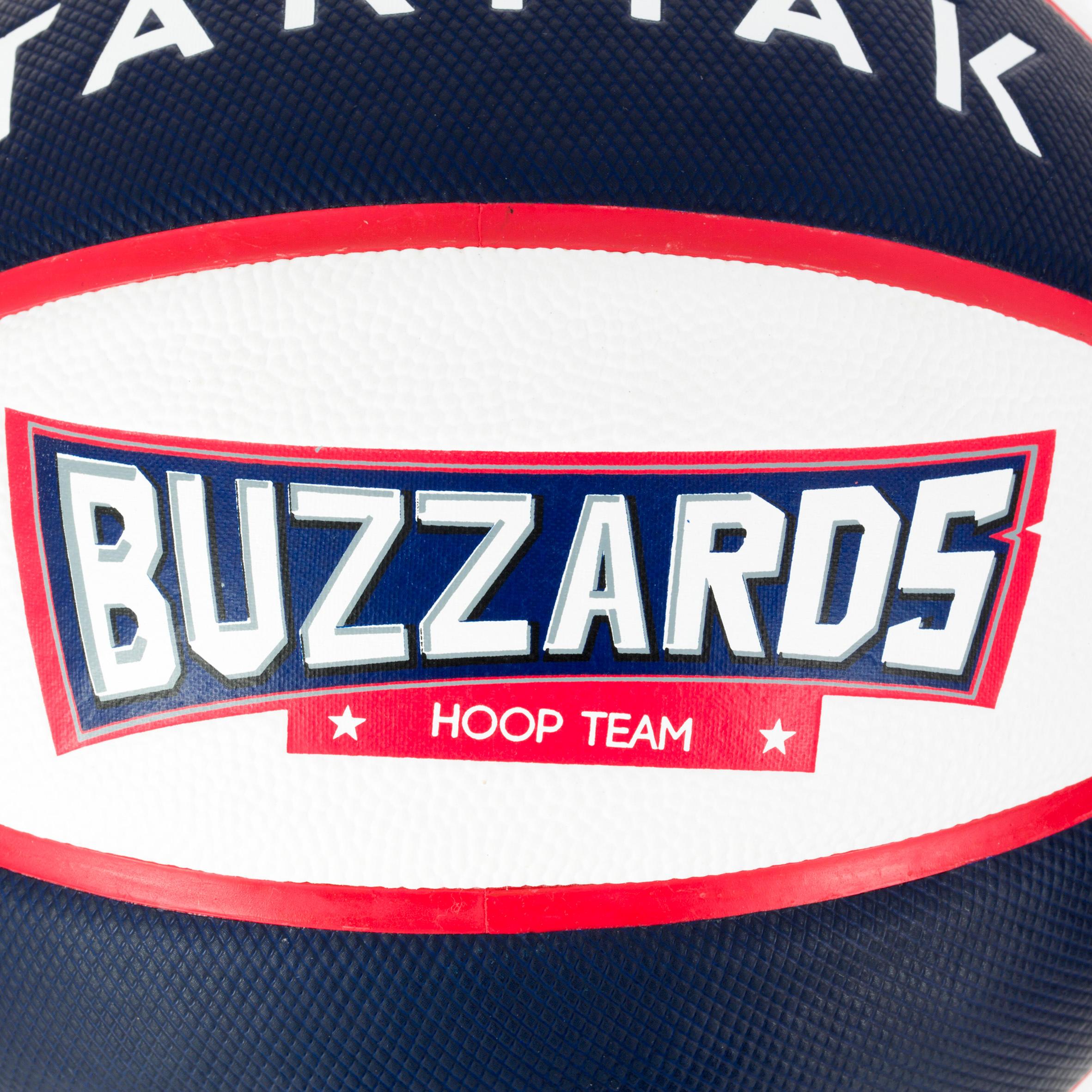Ballon de basket enfant Wizzy Buzzard bleu blanc taille 3. Jusqu'à 6 ans
