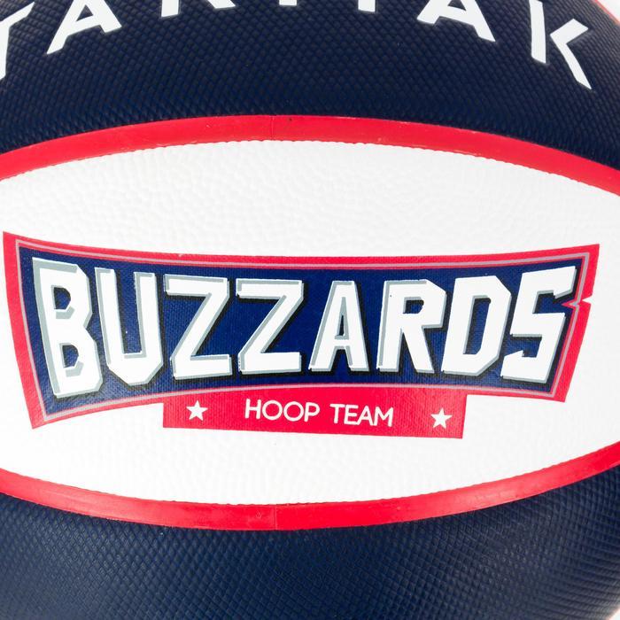 Ballon de basket enfant Wizzy Buzzard bleu blanc taille 5.