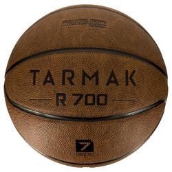 Basketbal R700 maat 7 volwassenen bruin. Heerlijke baltoets