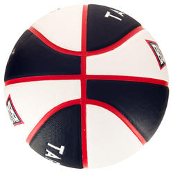 Ballon de basket enfant Wizzy Buzzards bleu blanc taille 5.