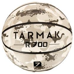 Balón de baloncesto adulto R700 talla 7 camuflaje gris. Excelente grip.