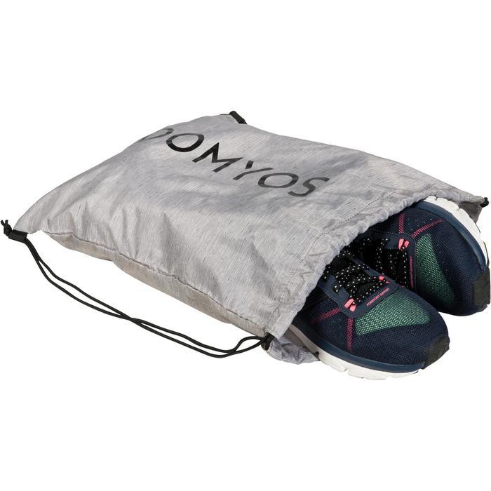 Bolsa calzado fitness plegable gris y negro