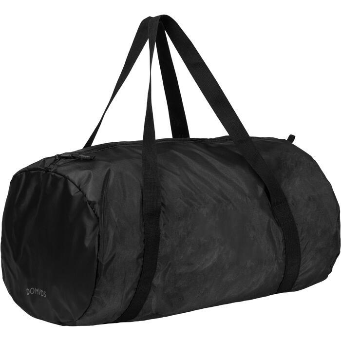 Bolsa de deporte plegable petate Cardio Fitness Domyos 30 litros negro