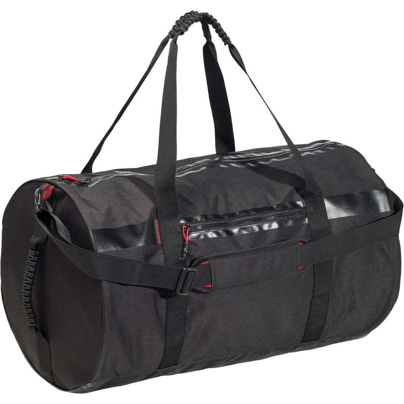 FITNESS CARDIO BAGS, ACCESS ALL LEVEL Fitness and Gym - 55L Fitness Bag - Black DOMYOS - Fitness and Gym