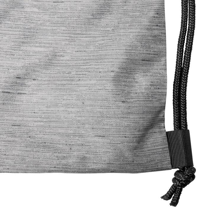 Opvouwbare schoenenzak voor de fitness grijs en zwart
