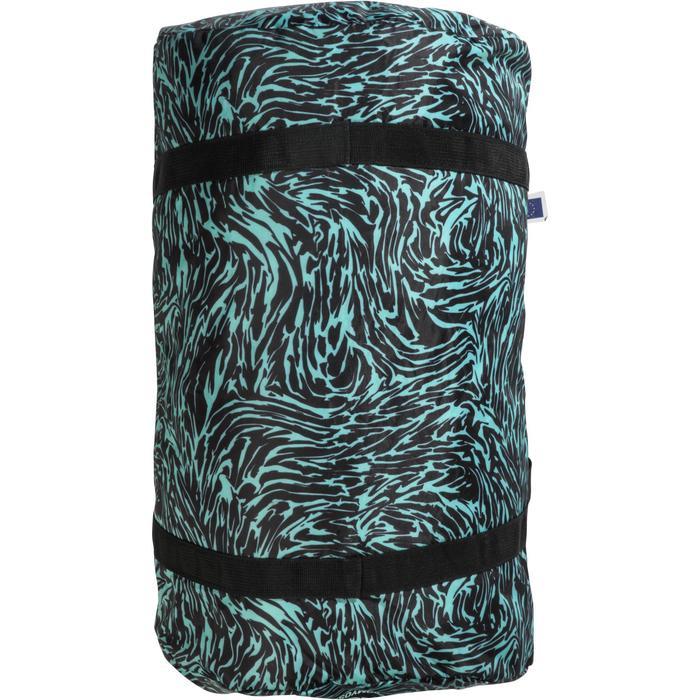 Bolsa fitness plegable 30 L estampado verde y negro