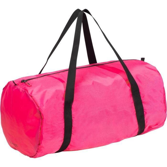 Bolsa de deporte plegable petate Cardio Fitness Domyos 30 litros rosa