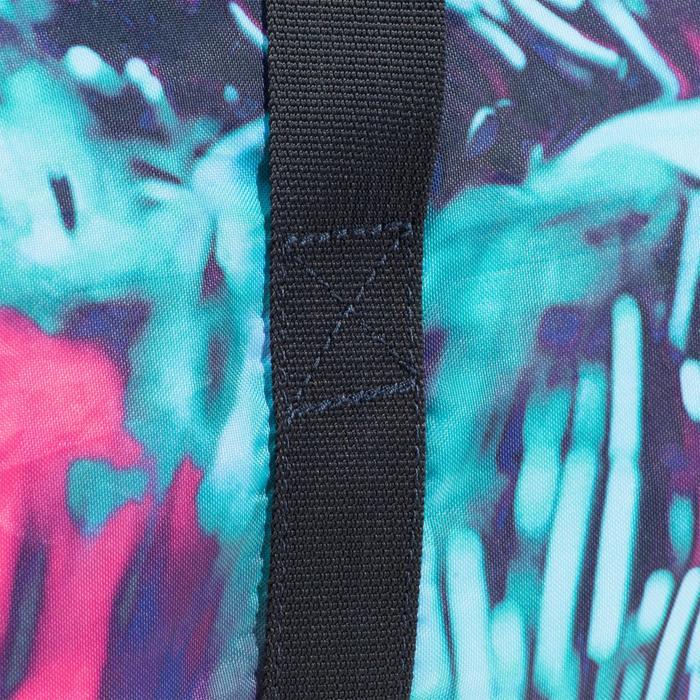 Sporttasche faltbar Fitness 30l rosa/blau/grün bedruckt