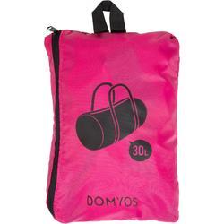 Bolsa de deportes gimnasio Cardio Fitness Domyos 30 litros Pocket plegable rosa