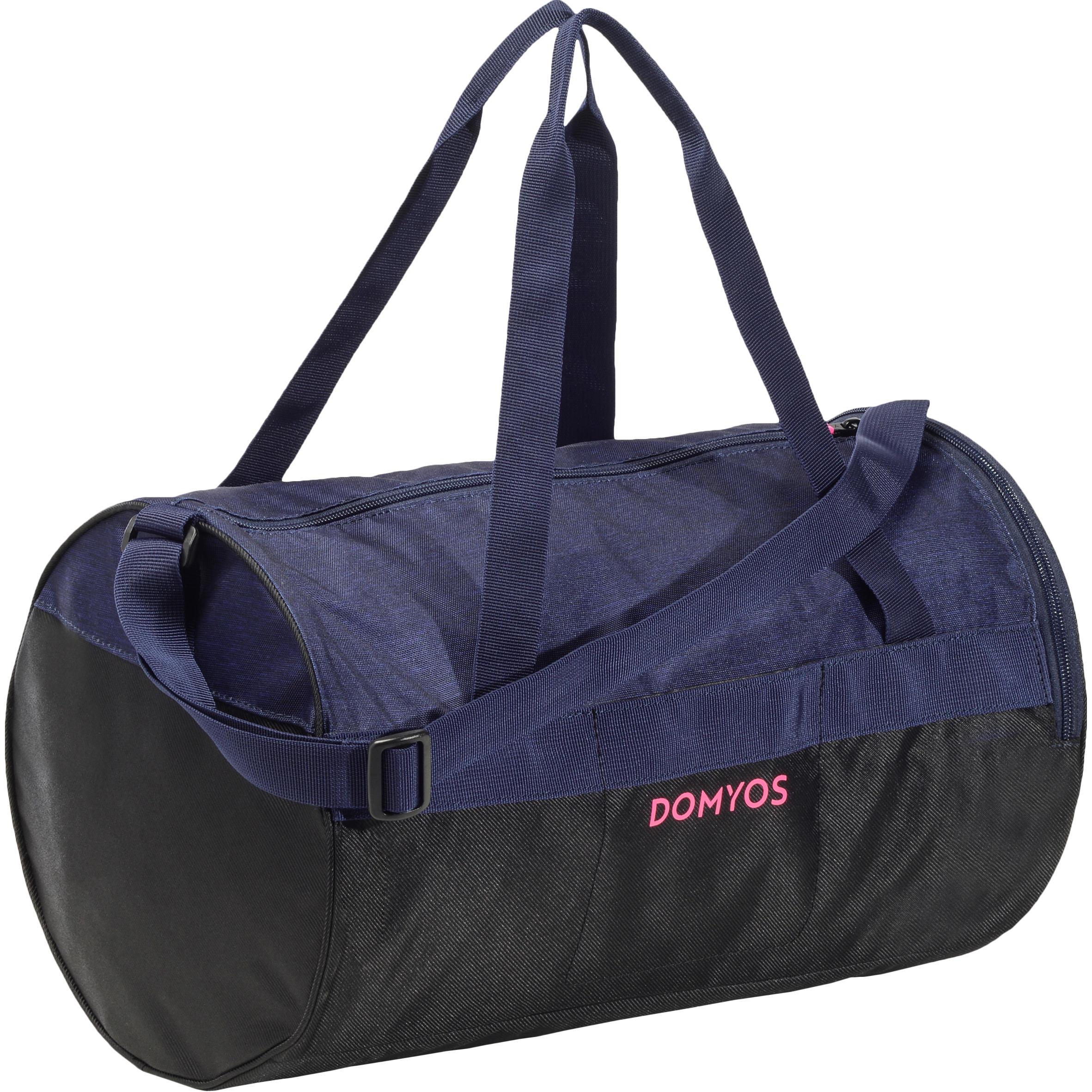 Bolsa de fitness de 20 litros azul y negra Domyos