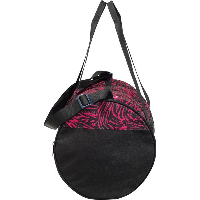 Cardiofitness tas 20 liter print roze en zwart