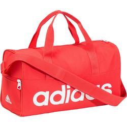 Bolsa de fitness junior Adidas rosa y blanca