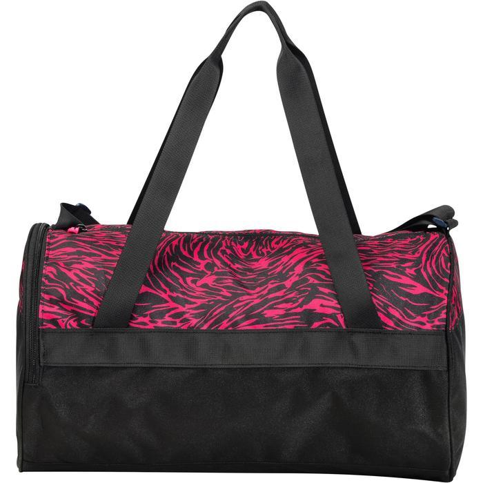 Bolsa fitness cardio-training 20 Litros estampado rosa y negro