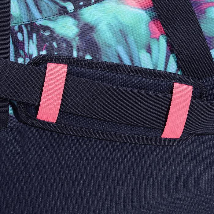 Fitnesstas cardiotraining 30 liter print blauw roze en groen