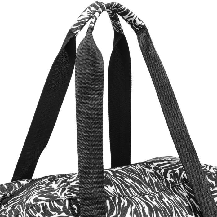 Bolsa fitness cardio-training 30 Litros estampado negro y blanco