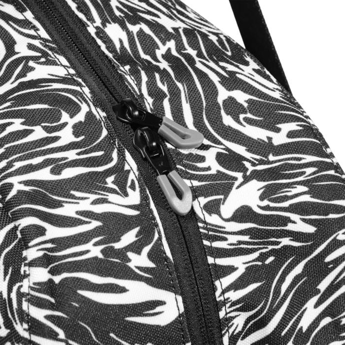 Cardiofitness tas 30 liter print zwart en wit