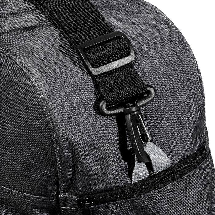 Bolsa de fitness cardio-training 30 litros gris oscuro jaspeado