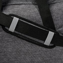 Fitnesstas cardiotraining 30 liter gemêleerd donkergrijs