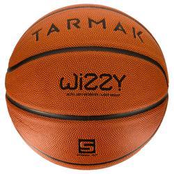 Ballon de basket enfant Wizzy marron taille 5.