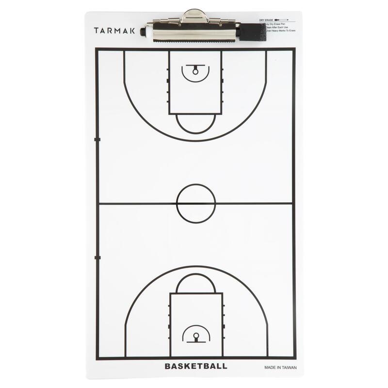 Pizarra de entrenador de baloncesto Tarmak con rotulador borrable
