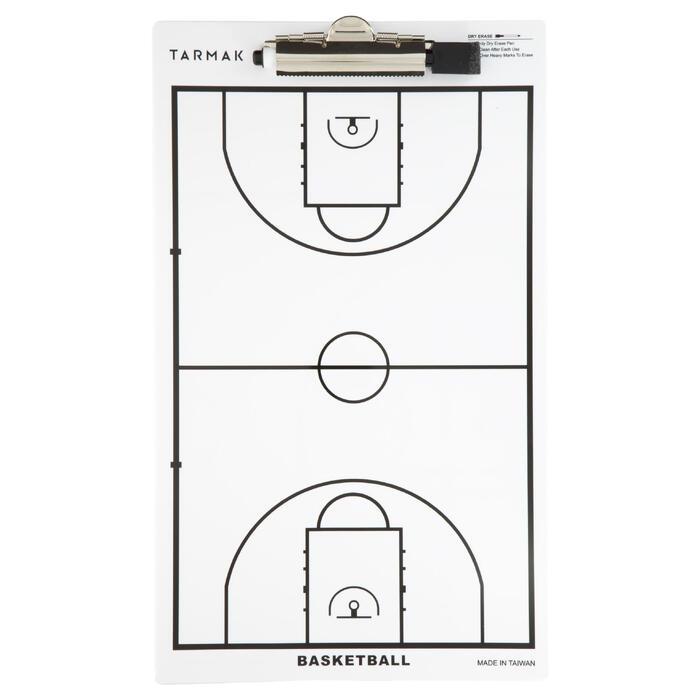 Tablette d'entraîneur de basketball Tarmak. Avec feutre effaçable. - 1285009