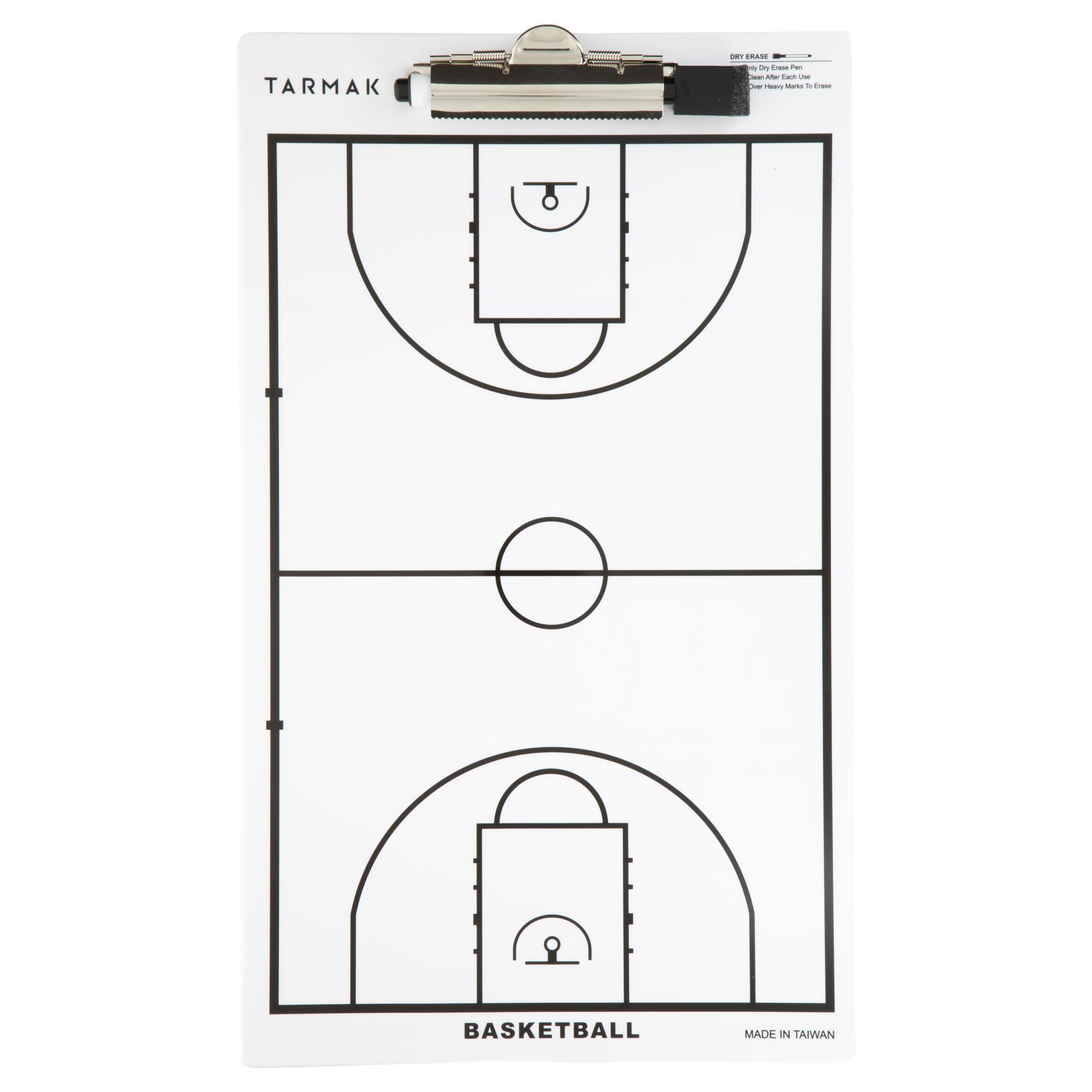 Taktikboard Trainer Basketball Mit abwischbarem Filzstift.