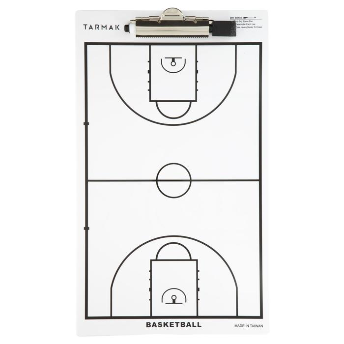 Trainingsbordje Tarmak basketbal. Met uitwisbare stift.