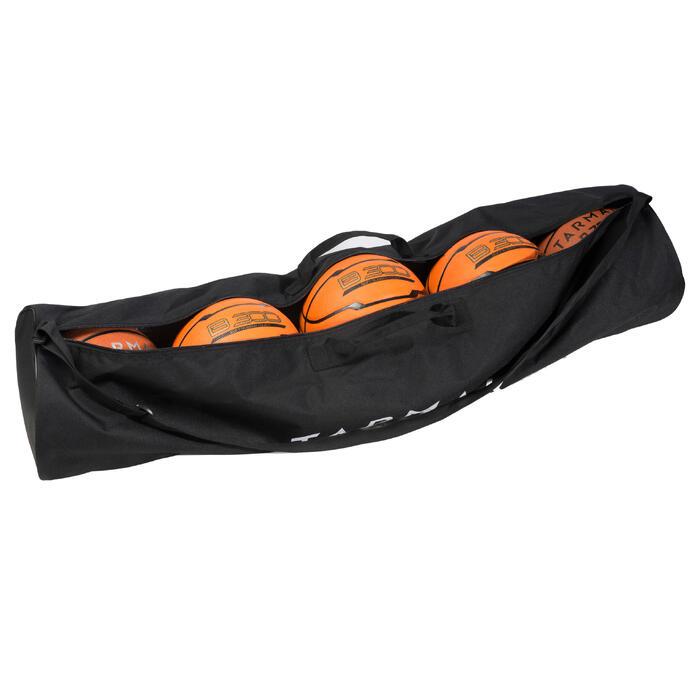 Sac de transport de 5 ballons de basketball de tailles 5 à 7. Résistant.