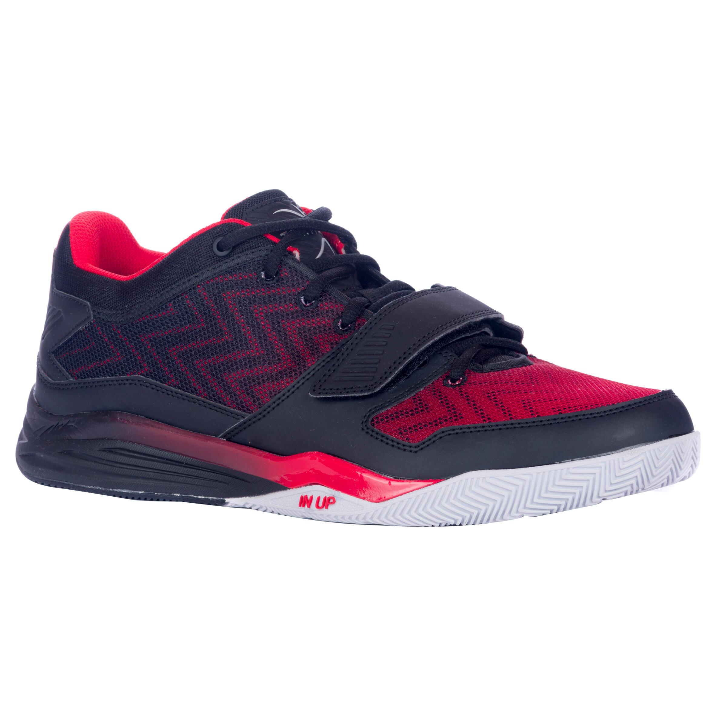Basketballschuhe Fast 500 kurzer Schaft Erwachsene Fortgeschrittene schwarz/rot | Schuhe > Sportschuhe > Basketballschuhe | Tarmak