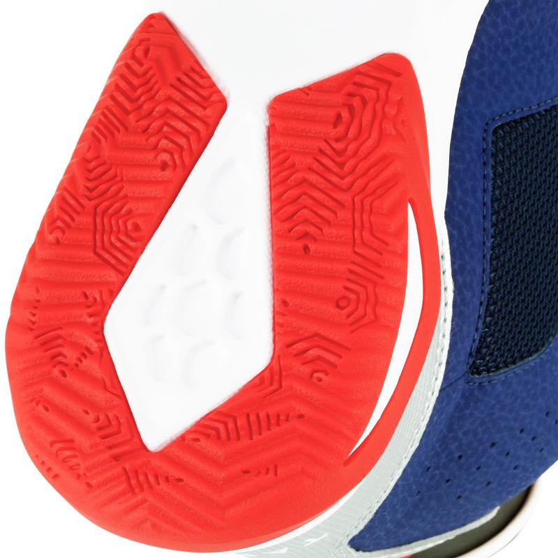 Zapatillas de basketball para niños Strong 300 azul marino rojo