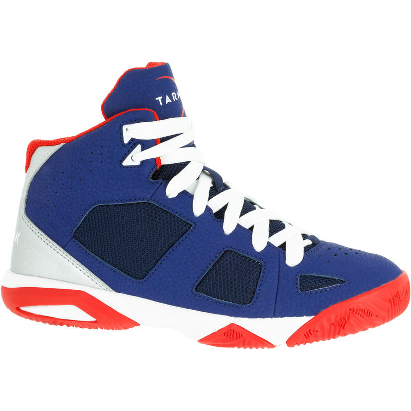 Strong 300 Boys'/Girls' Basketball Shoes For Intermediate Players - Navy/Red