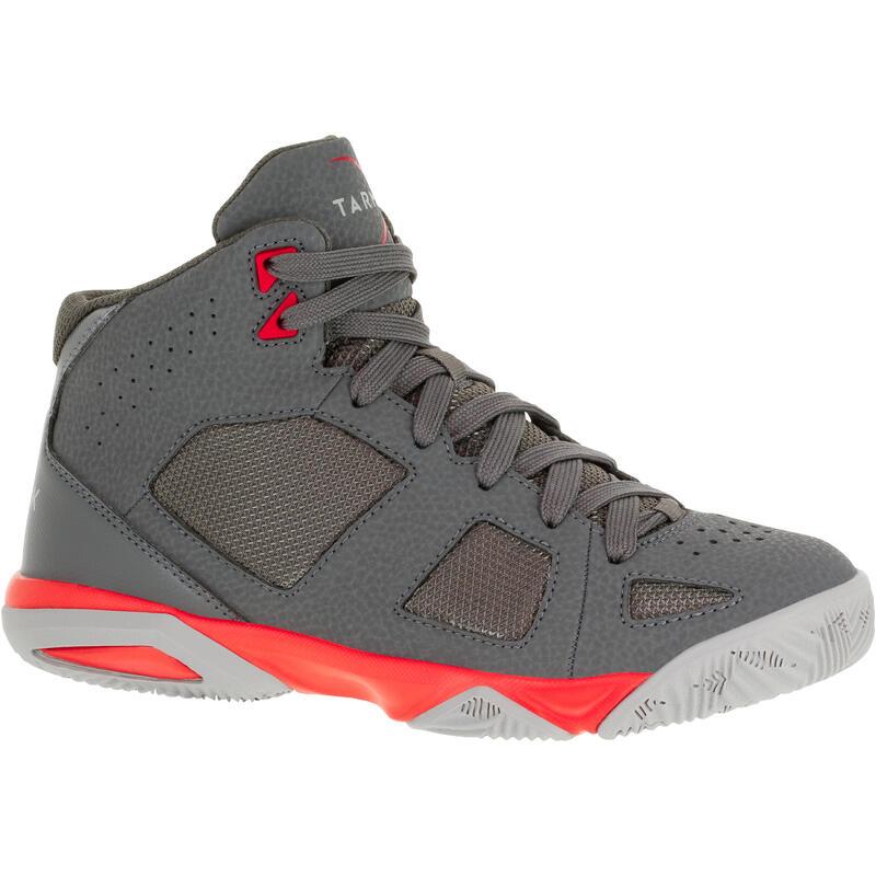Dětské basketbalové boty Strong 300 tmavě šedé