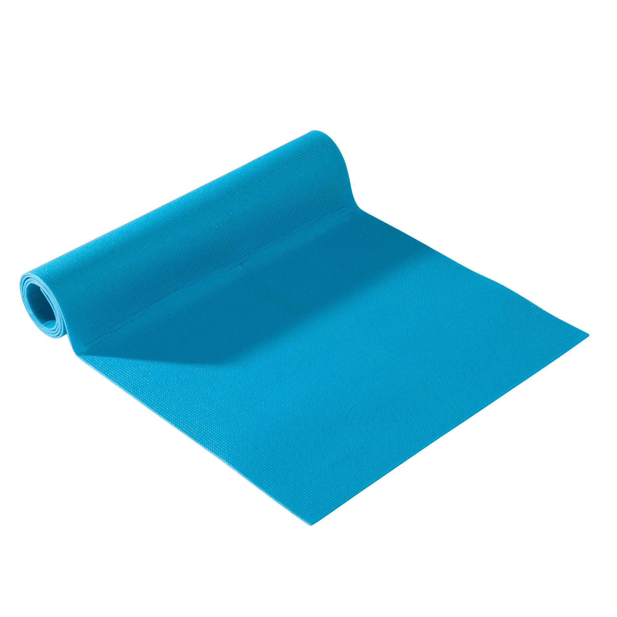 Tapis Yoga Doux Essentiel 4 Mm Bleu Domyos By Decathlon