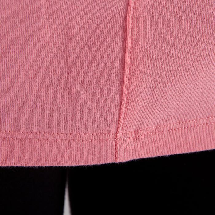 Yogashirt 100 met lange mouwen voor dames ECO koraal - 1285206