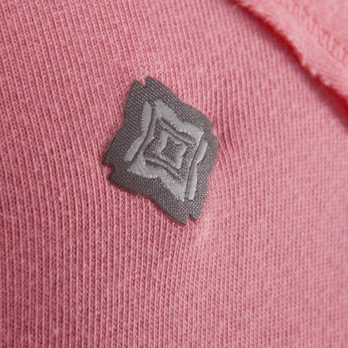 Yogashirt 100 met lange mouwen voor dames ECO koraal - 1285207